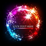 Shining glitter vector star dust and line frame, vector banner.  Stock Images