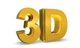 Shining gold 3D Stock Images