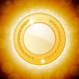 Shining gold medal background Royalty Free Stock Image