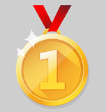 Shining gold medal Royalty Free Stock Photo