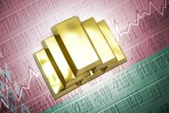 Belarus gold reserves Royalty Free Stock Image