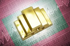 Maldives gold reserves Royalty Free Stock Photography