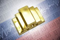 russian gold reserves Royalty Free Stock Photography