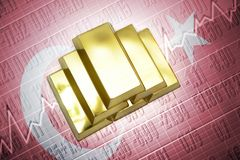 Turkish gold reserves Stock Images