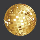 Golden disco ball Royalty Free Stock Photography