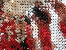 Shining golden disco mosaic Stock Photo