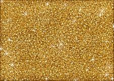 Shining Golden Glitter Background stock illustration