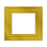 Shining golden Indian Photo frame, vector Royalty Free Stock Photo