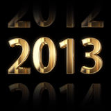 3D golden 2013 year background Stock Photography