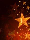 Shining golden stars Royalty Free Stock Photo