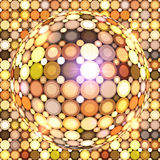 Shining golden vector disco ball Stock Photos