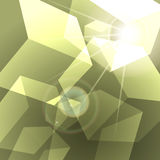Shining green cubes abstract background Royalty Free Stock Image