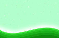 Shining green hill shape art background Stock Images