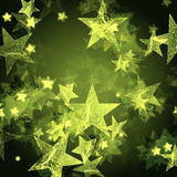 Shining green stars Stock Photos