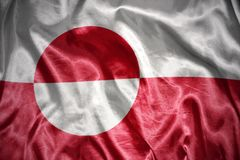 Shining greenland flag Stock Images