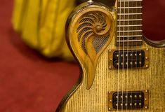 The shining guitar details royalty free stock image
