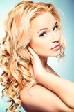 Shining hair Royalty Free Stock Images