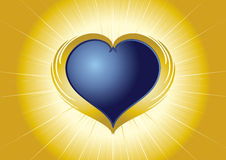 Shining heart Royalty Free Stock Image