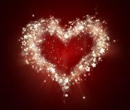 Shining heart Royalty Free Stock Photos