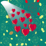 Shining heart heart background. Valentine background. Vector illustration Royalty Free Stock Photo