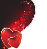 Shining hearts Royalty Free Stock Image