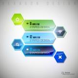 Shining Hexagon Royalty Free Stock Image