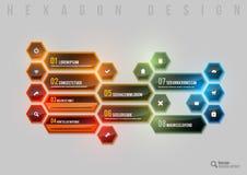 Shining Hexagon Stock Photography
