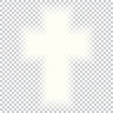 Shining Holy Cross on abstract background. Grey white halftone modern bright art. Blurred pattern background. Abstract creative graphic template. Vector Stock Photos
