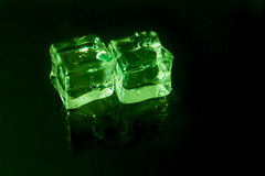 Shining ice cubes Stock Image