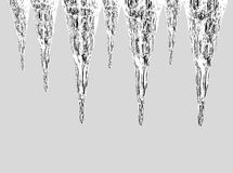 Shining icicles Royalty Free Stock Photo