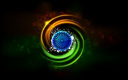 Shining India. Illustration of abstract shining Indian background Royalty Free Stock Images