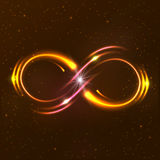 Shining infinity symbol Stock Images