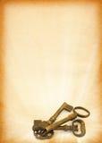 Shining keys against peper Royalty Free Stock Image