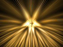 Shining light abstraction. Abstract background of illuminating gold light Royalty Free Stock Photography