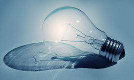 Shining light bulb Stock Image
