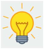Shining light bulb poster Royalty Free Stock Image