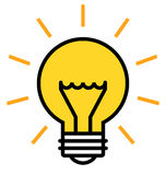 Shining light bulb Royalty Free Stock Images