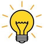 Shining light bulb stock illustration