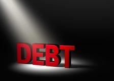 Shining a Light On Debt Royalty Free Stock Photos