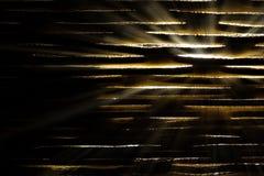 Shining light through slats Royalty Free Stock Photography