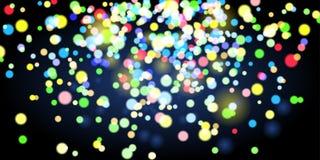Shining lights on dark background Royalty Free Stock Images