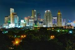 Shining lights of nighttime city Stock Photos
