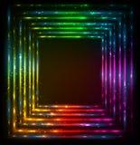 Shining lights rainbow colors vector frame Royalty Free Stock Photo
