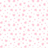 Shining little hearts vector seamless pattern Royalty Free Stock Images