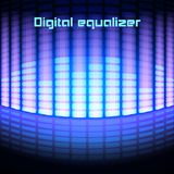 Shining magenta digital equalizer background royalty free illustration