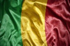 Shining malian flag. Waving and shining malian flag stock photos