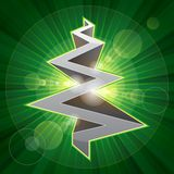 Shining metal christmas tree Royalty Free Stock Photography