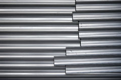 Shining metal wall with junction Royalty Free Stock Photos