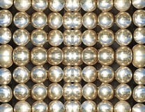 Shining metallic balls.Abstract background. Royalty Free Stock Image