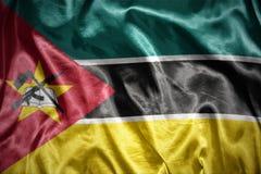 Shining mozambican flag Stock Photo